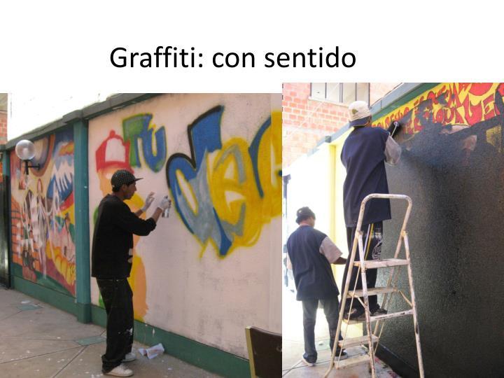 Graffiti: con sentido