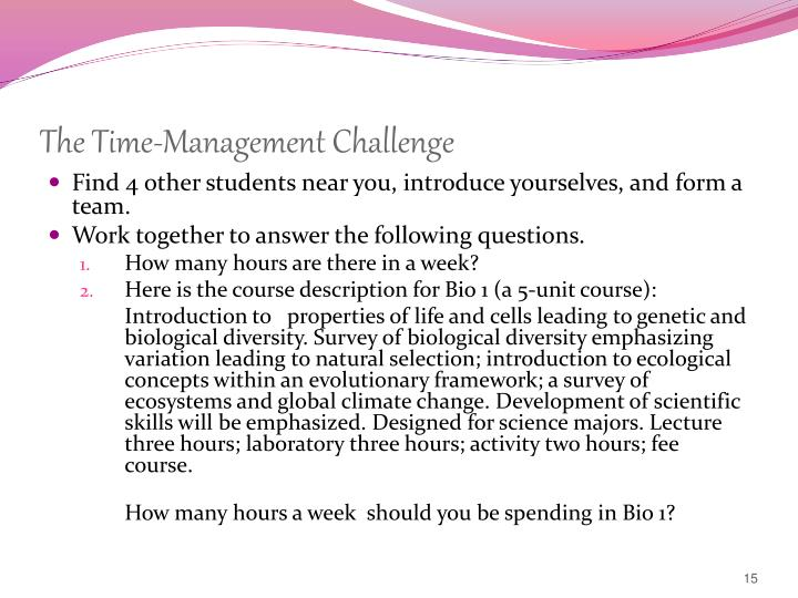 The Time-Management Challenge