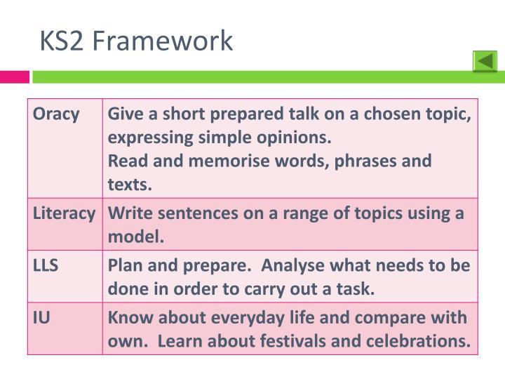 KS2 Framework