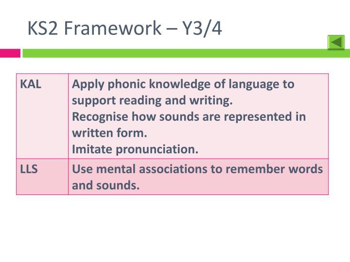 KS2 Framework – Y3/4