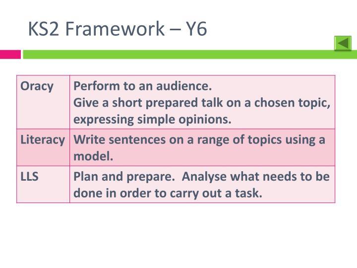 KS2 Framework – Y6
