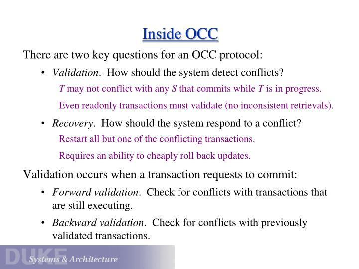 Inside OCC