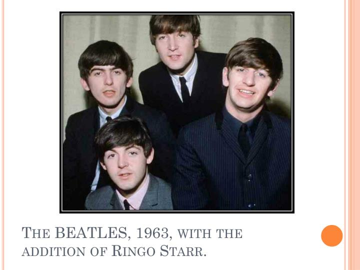 The BEATLES, 1963, with the addition of