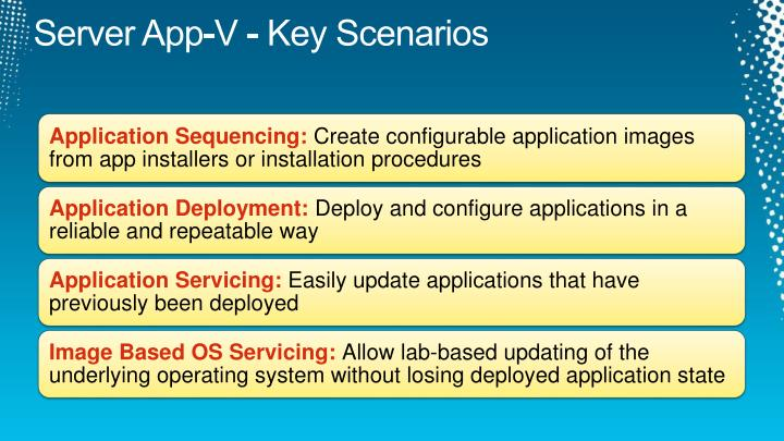 Server App-V - Key Scenarios