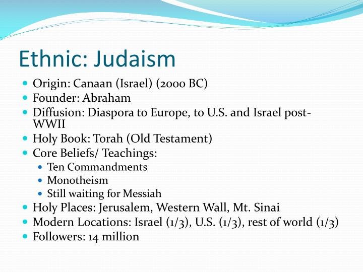 Ethnic: Judaism