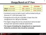 charge bunch at 5 th pass