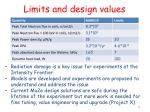 limits and design values