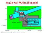 mu2e hall mars15 model