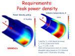requirements peak power density