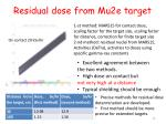 residual dose from mu2e target