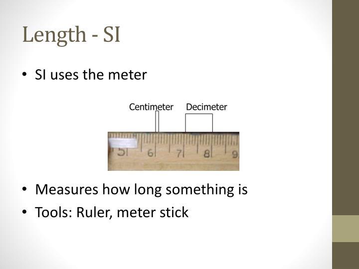 Length - SI