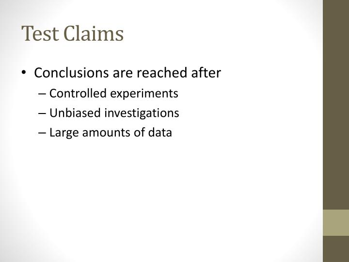 Test Claims