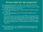 review week ten lab assignment16