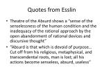 quotes from esslin