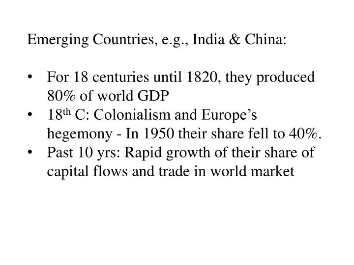 Emerging Countries,