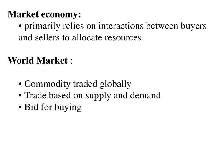Market economy:
