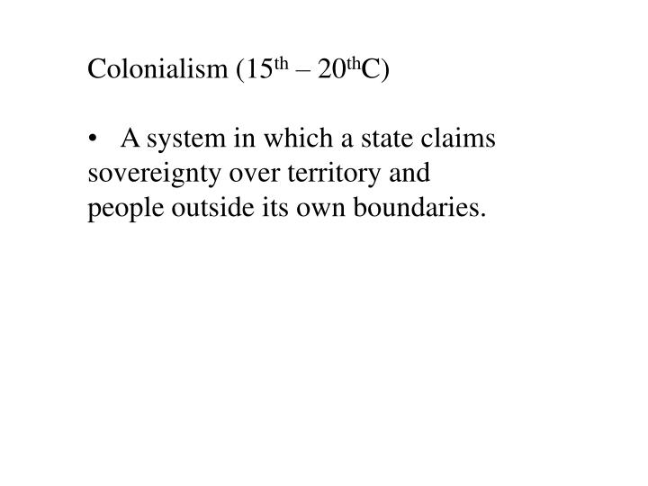 Colonialism (15