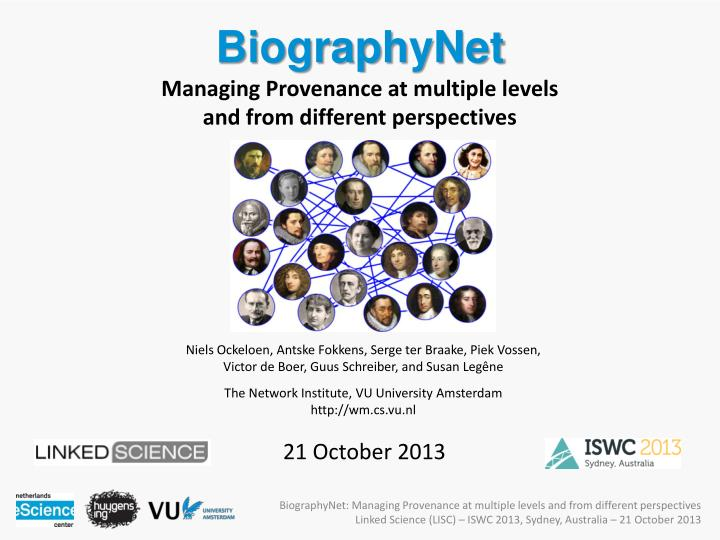 biographynet managing provenance at multiple levels and from different perspectives n.