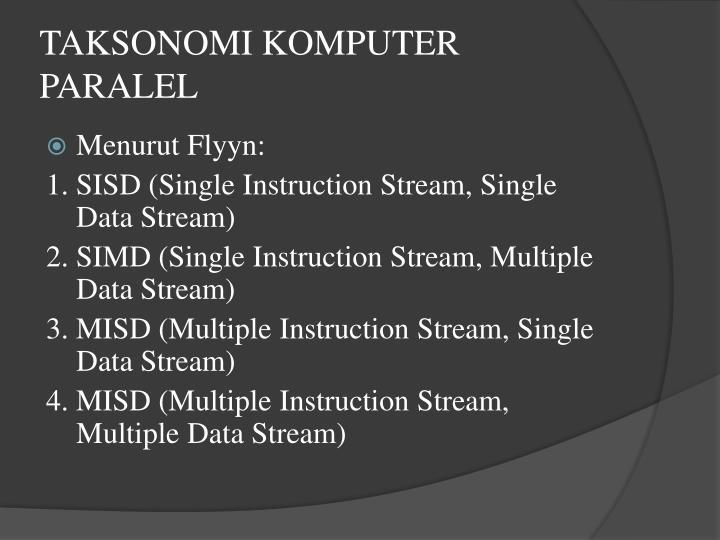 Taksonomi komputer paralel