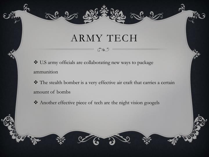 Army tech