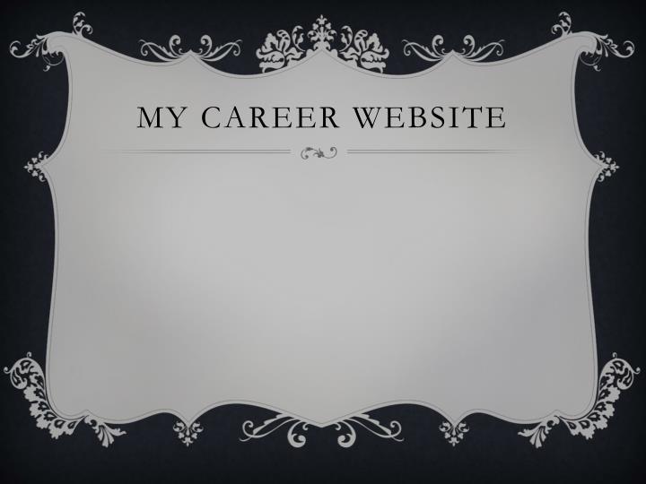 My Career Website