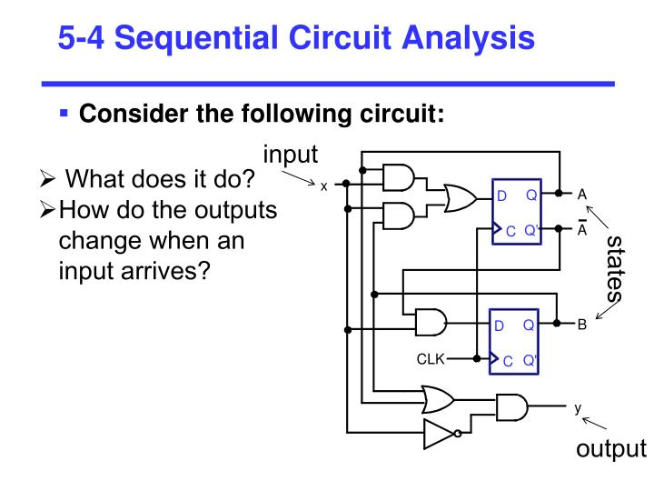 5-4 Sequential Circuit Analysis