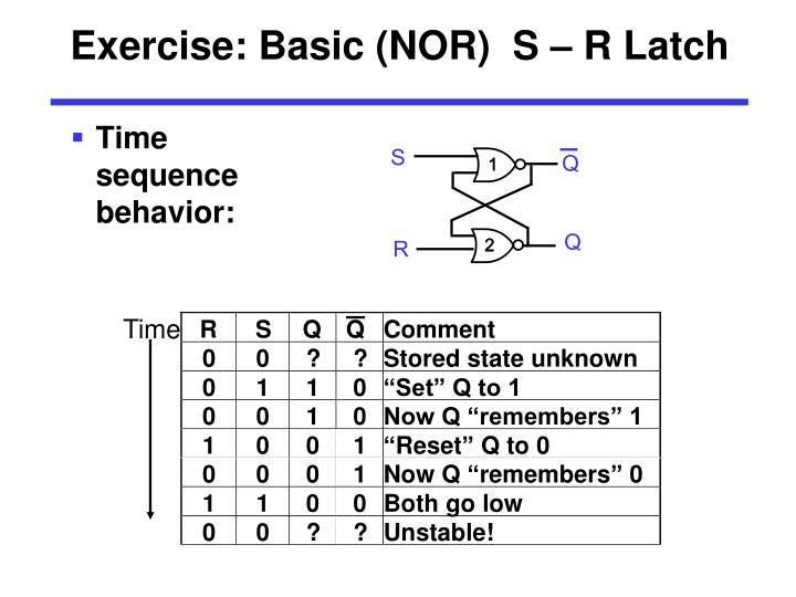 Exercise: Basic (NOR)  S