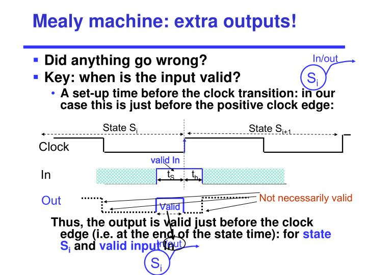 Mealy machine: extra outputs!