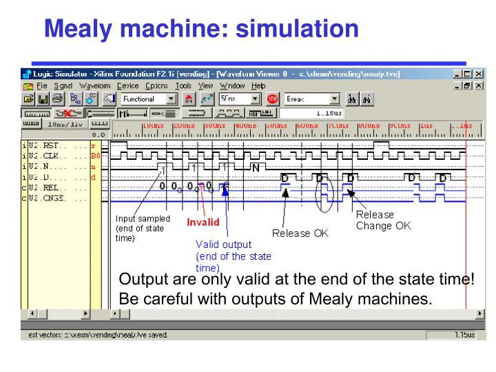 Mealy machine: simulation