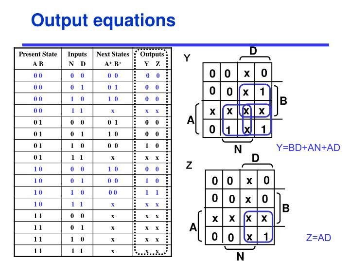 Output equations