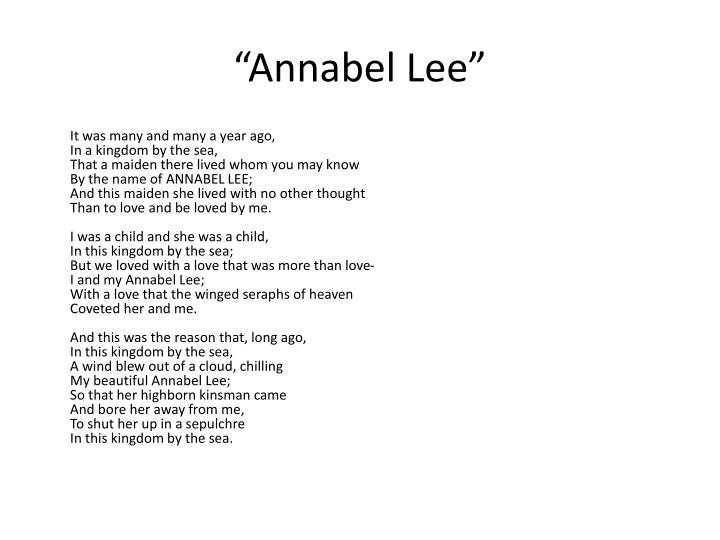 """Annabel Lee"""