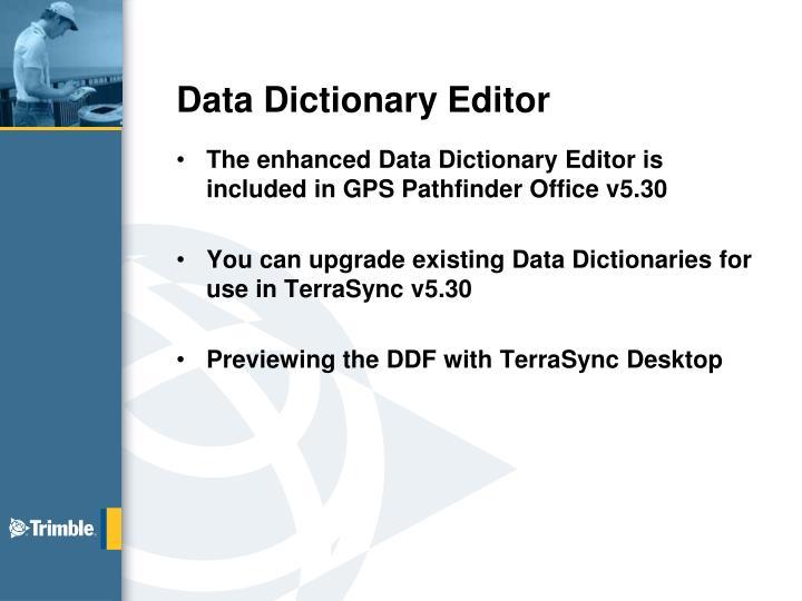 Data Dictionary Editor