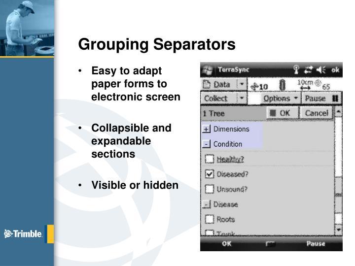 Grouping Separators