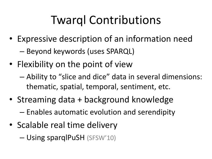 Twarql Contributions
