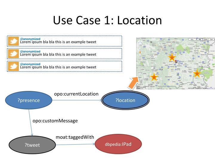 Use Case 1: Location