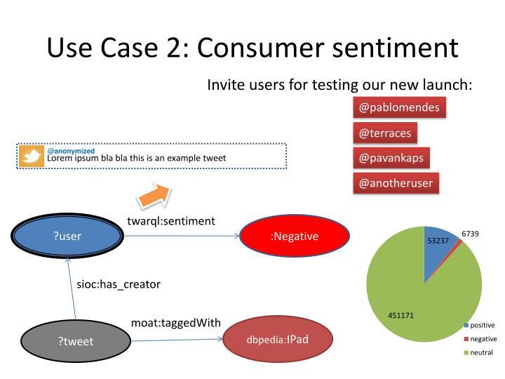 Use Case 2: Consumer sentiment