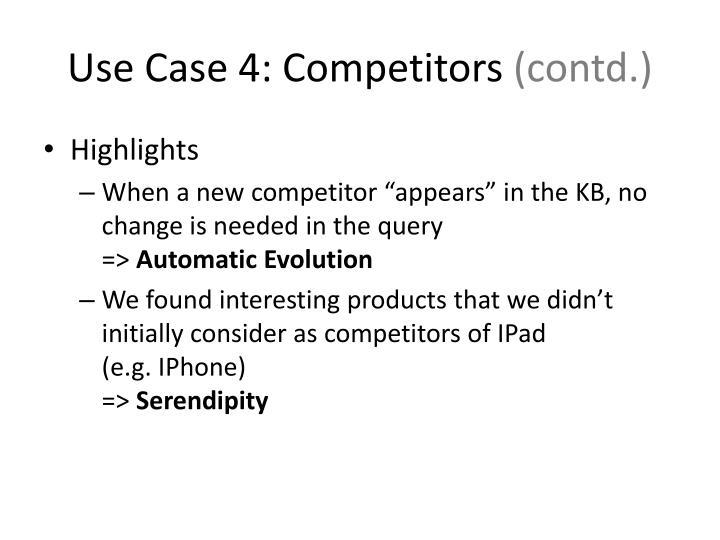 Use Case 4: Competitors