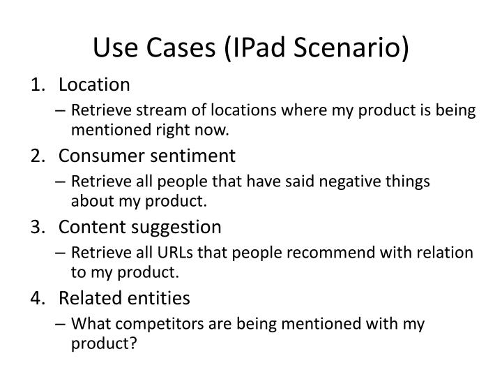 Use Cases (
