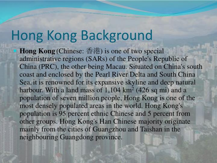 Hong kong background