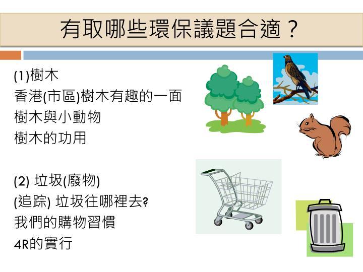 有取哪些環保議題合適?