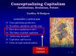 conceptualizing capitalism institutions evolution future1