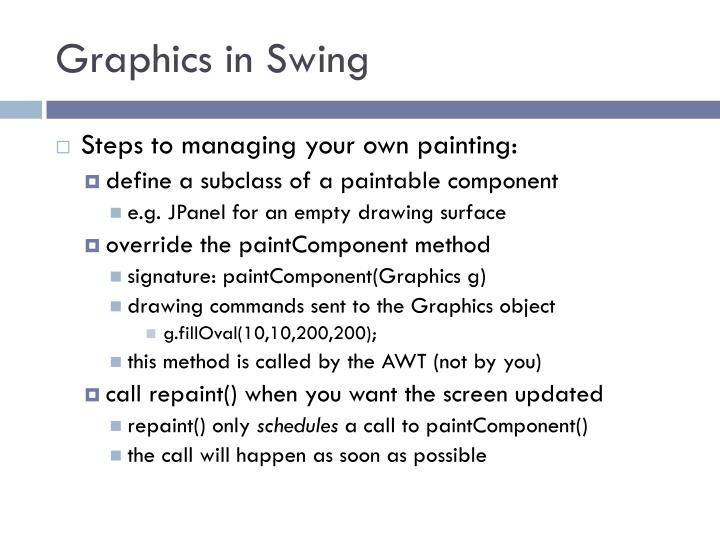 Graphics in Swing