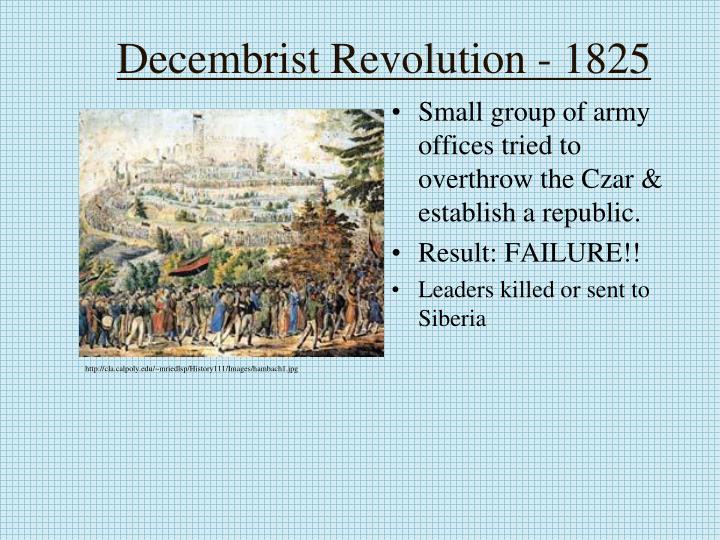 Decembrist Revolution - 1825