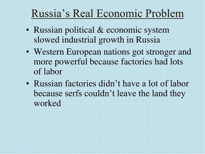 Russia's Real Economic Problem