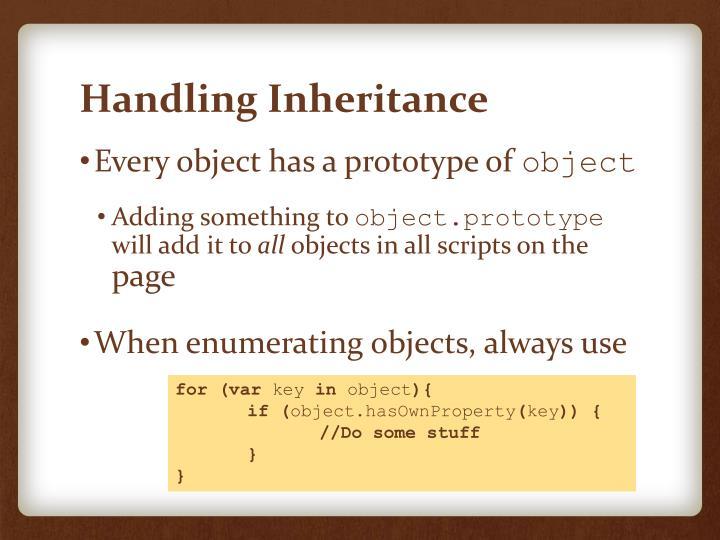 Handling Inheritance