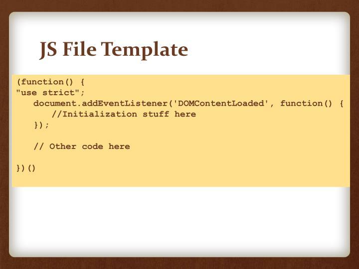 JS File Template