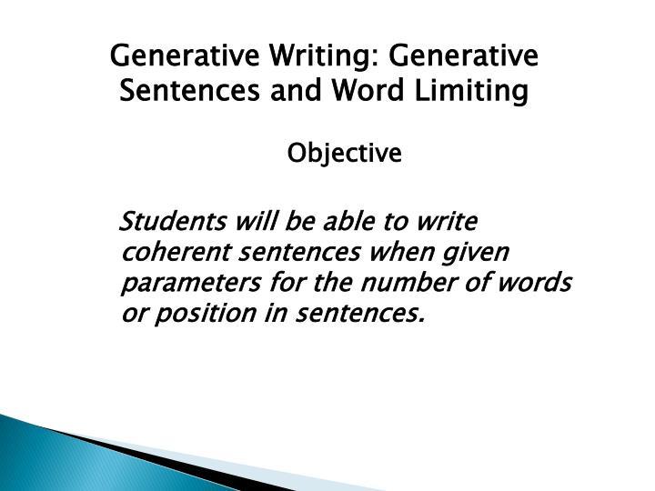 writing coherent sentences