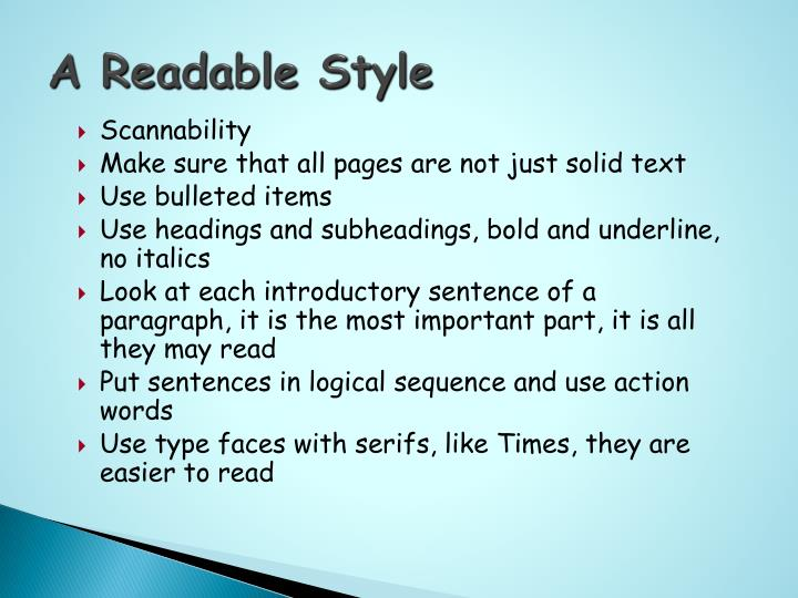 A Readable Style