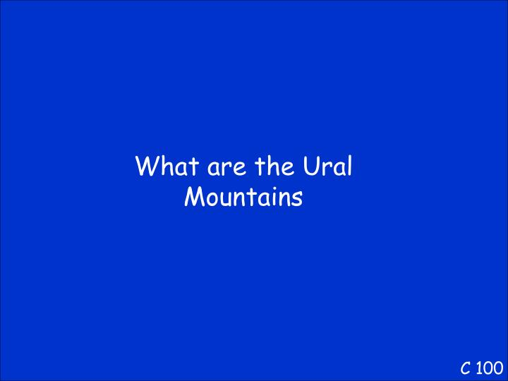 What are the Ural Mountains