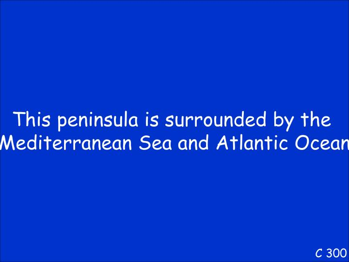 This peninsula is surrounded by the
